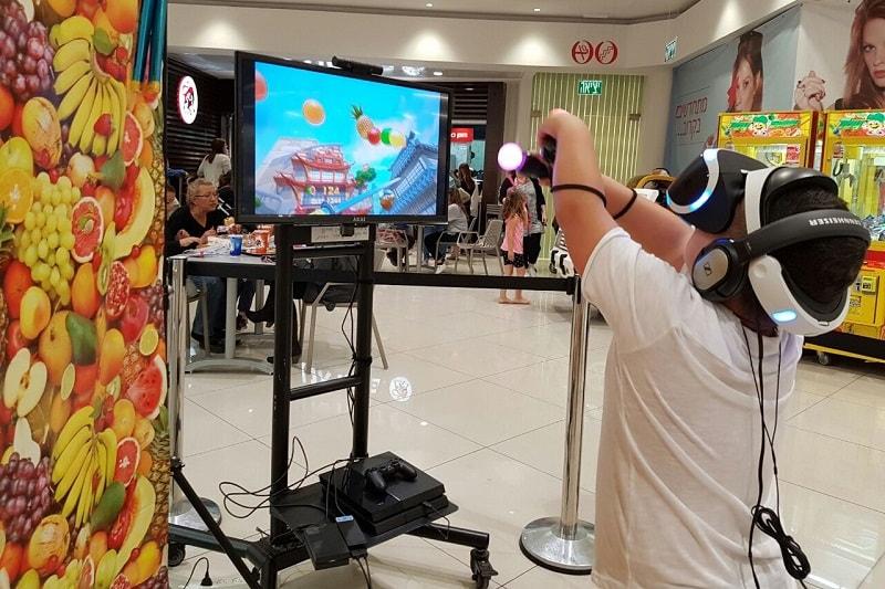 משחק פרוט נינג'ה במתחם מציאות מדומה