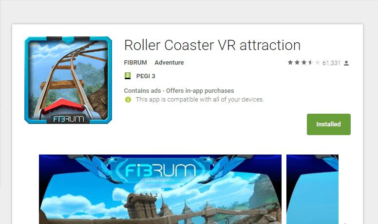 אפליקציית (VR) מציאות מדומה Roller Coaster VR attraction