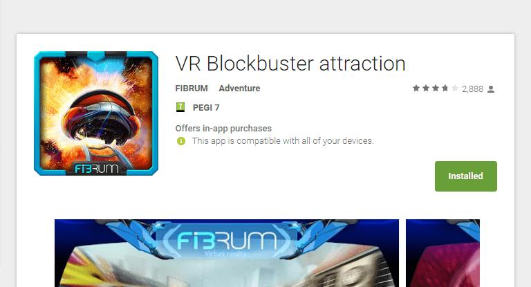 אפליקציית (VR) מציאות מדומה VR Blockbuster attraction