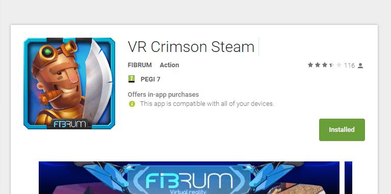 אפליקציית (VR) מציאות מדומה vr crimson steam